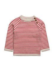 Baby Sweater - ECRU/RED