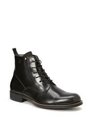 MANOR Dryden Hi Shine - Black Textured Lthr