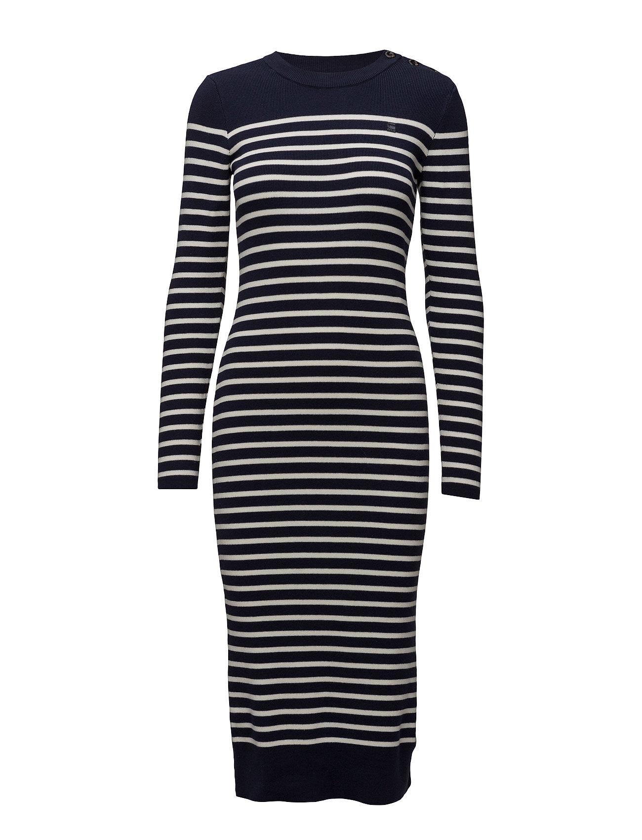 g-star – Exly stripe r dress knit wmn l på boozt.com dk