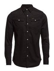 tailor sht l/s,lt wt heap check - black