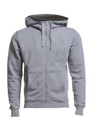 guz hood sw l/s,stone sweat - Grey Htr