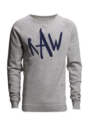 fa tu ve sw l/s,army slub sweat - Snow Htr