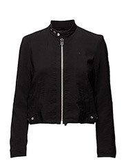 Chopper clean zip overshirt wmn l - BLACK