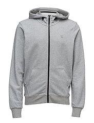 Core hooded zip sw l - GREY HTR