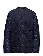 Liner PM Cropped Quilted Overshirt - SARTHO BLUE