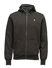 Core hooded zip sw l - ASFALT