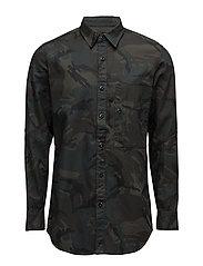 Stalt Long Denim  shirt l - ASFALT/BLACK AO