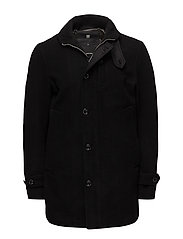 Garber wool trench - BLACK