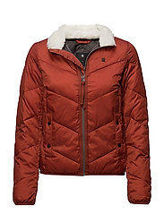 Alaska padded teddy jkt wmn - ANTIC RED