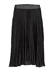 GS high plissee skirt - BLACK