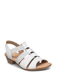 High-heeled sandal - WHITE