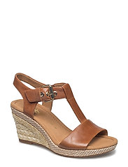 High-heeled sandal - BROWN