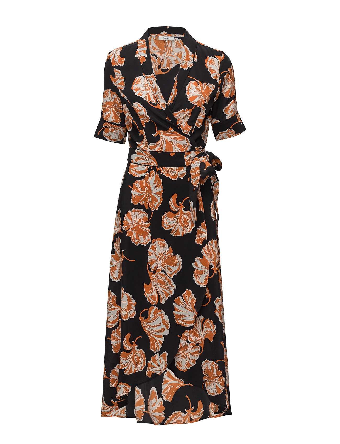 Ganni Geroux Silk Wrap Dress
