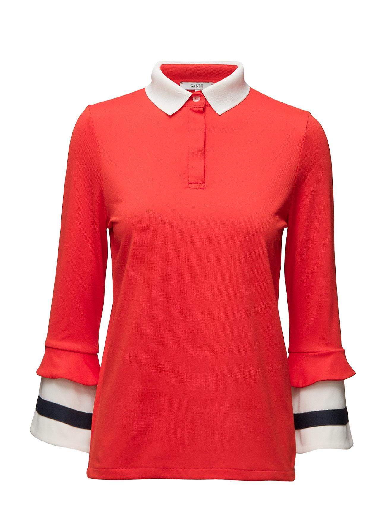 Naoki Polo Ganni Polo t-shirts til Damer i Fiery Red