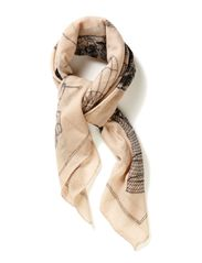 Out of Moscow Scarf - White Smoke