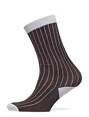 Classon Rib Ankle Socks - TORTOISE SHELL