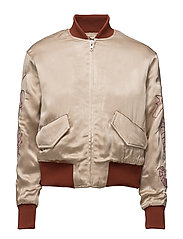 Leclair Satin Bomber - Cuban Sand