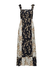 St. Pierre Crepe Maxi Dress - Total Eclipse