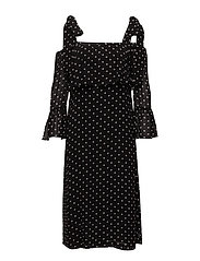 Monette Georgette Maxi Dress - Black