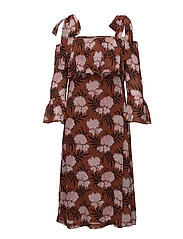 Monette Georgette Maxi Dress - Brandy Brown