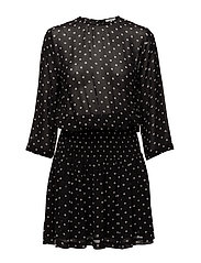 Monette Georgette Dress - Black