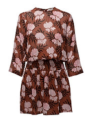 Monette Georgette Dress - Brandy Brown