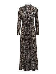 Dufort Silk Maxi Dress - Leopard