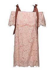 Duval Lace Dress - Cloud Pink