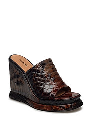 Agathe Sandals - BRANDY BROWN