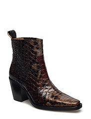 Maryse Ankle Boots - BRANDY BROWN