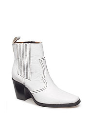 Callie Ankle Boots - Bright White