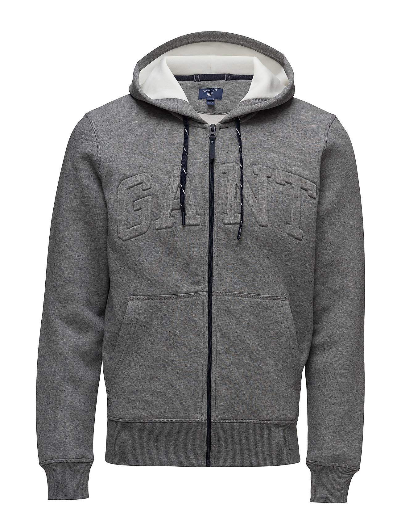 Gant Embossed Full Zip Sweat Hoodie (Dark Grey Melange) (£150 ...