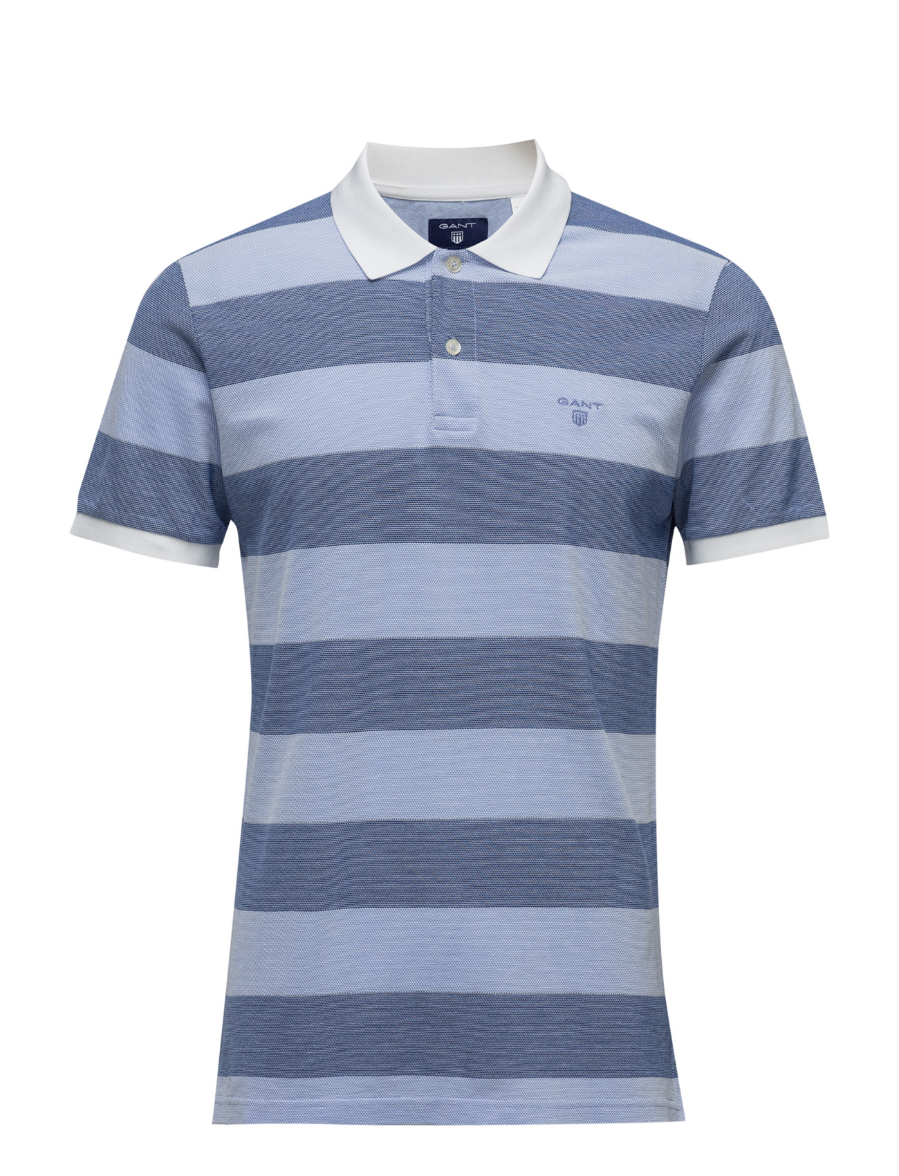 O2. Oxford Pique Stripe Ss Rugger GANT Kortærmede polo t-shirts til Herrer i