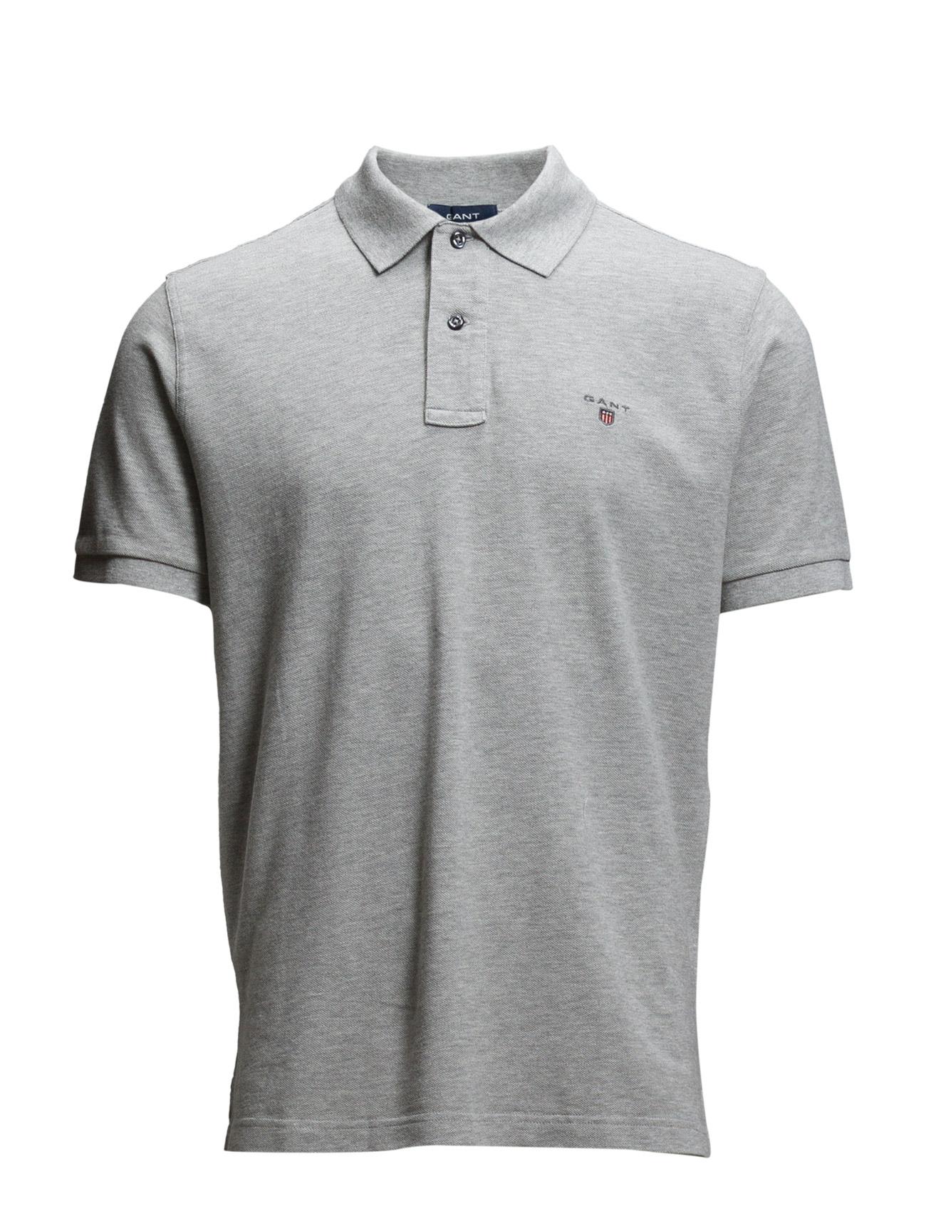 Solid Pique Ss Rugger GANT Kortærmede polo t-shirts til Mænd i Sort