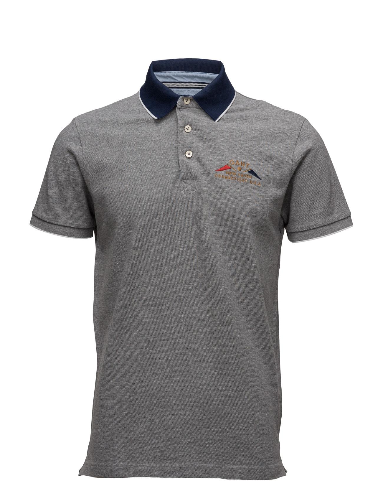 O1. Nautical Flag Pique Ss Rugger GANT Kortærmede polo t-shirts til Herrer i