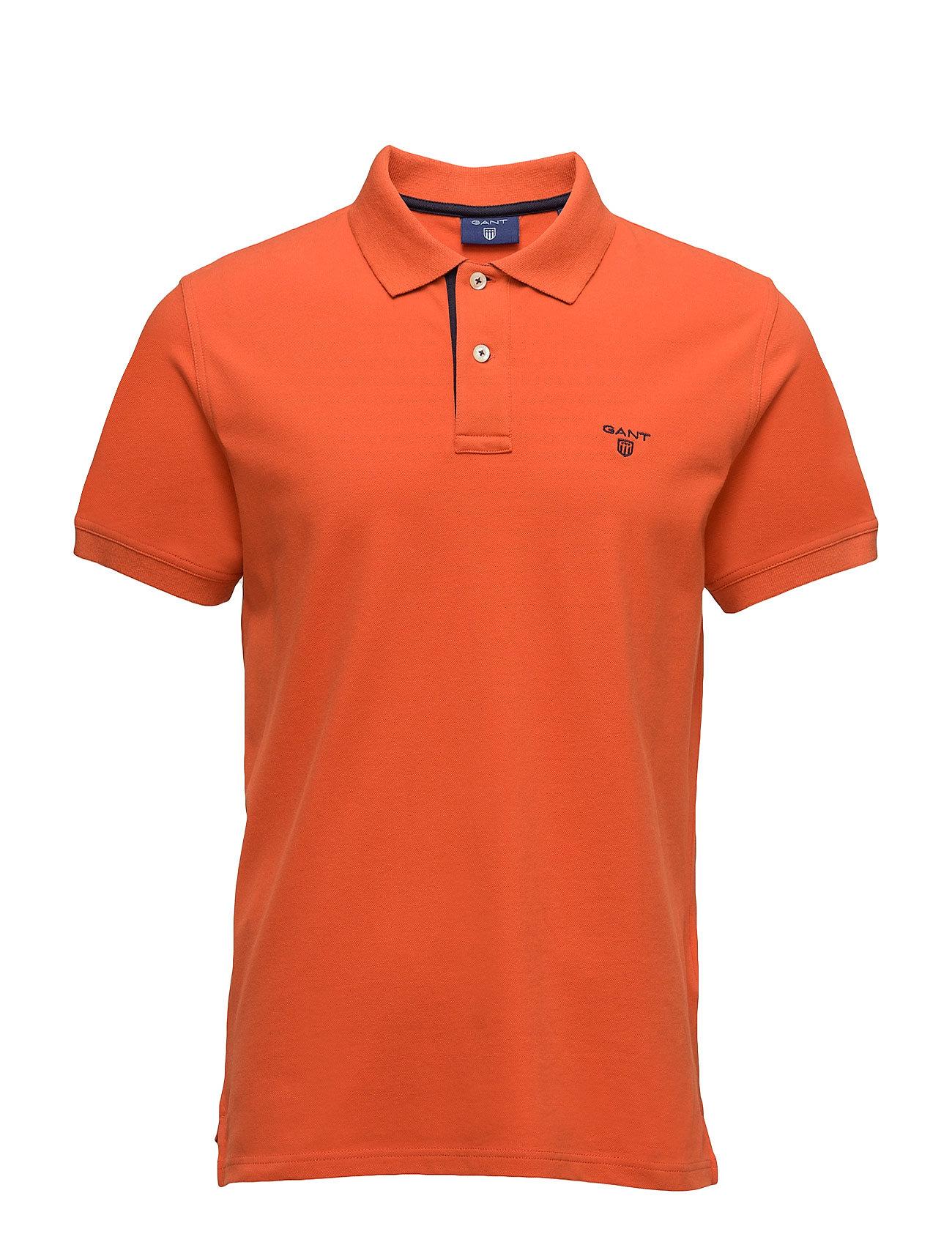 Op1. Contrast Collar Piq Ss Rugger GANT Kortærmede polo t-shirts til Herrer i