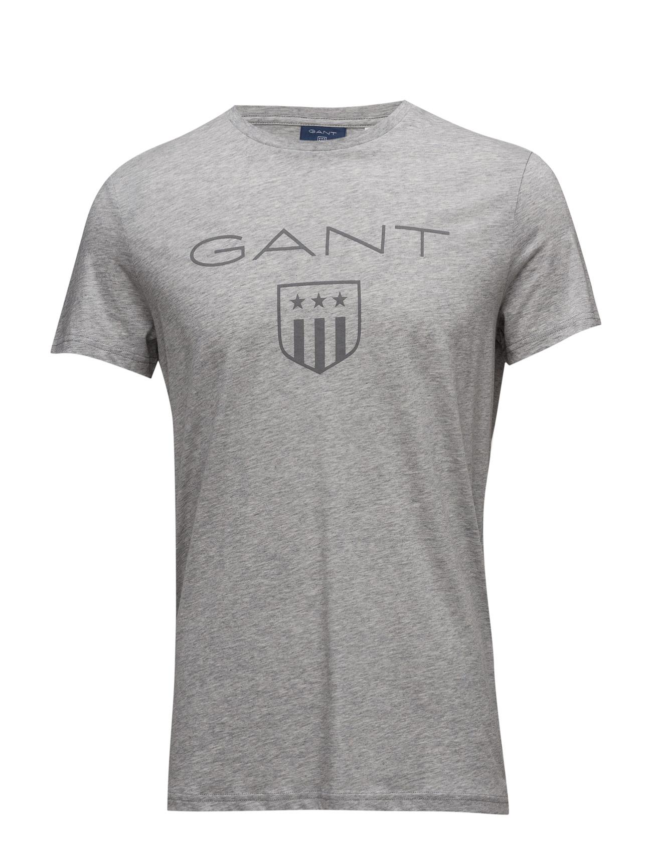 Tonal Gant Shield T-Shirt GANT Kortærmede til Mænd i Light Grey Melange