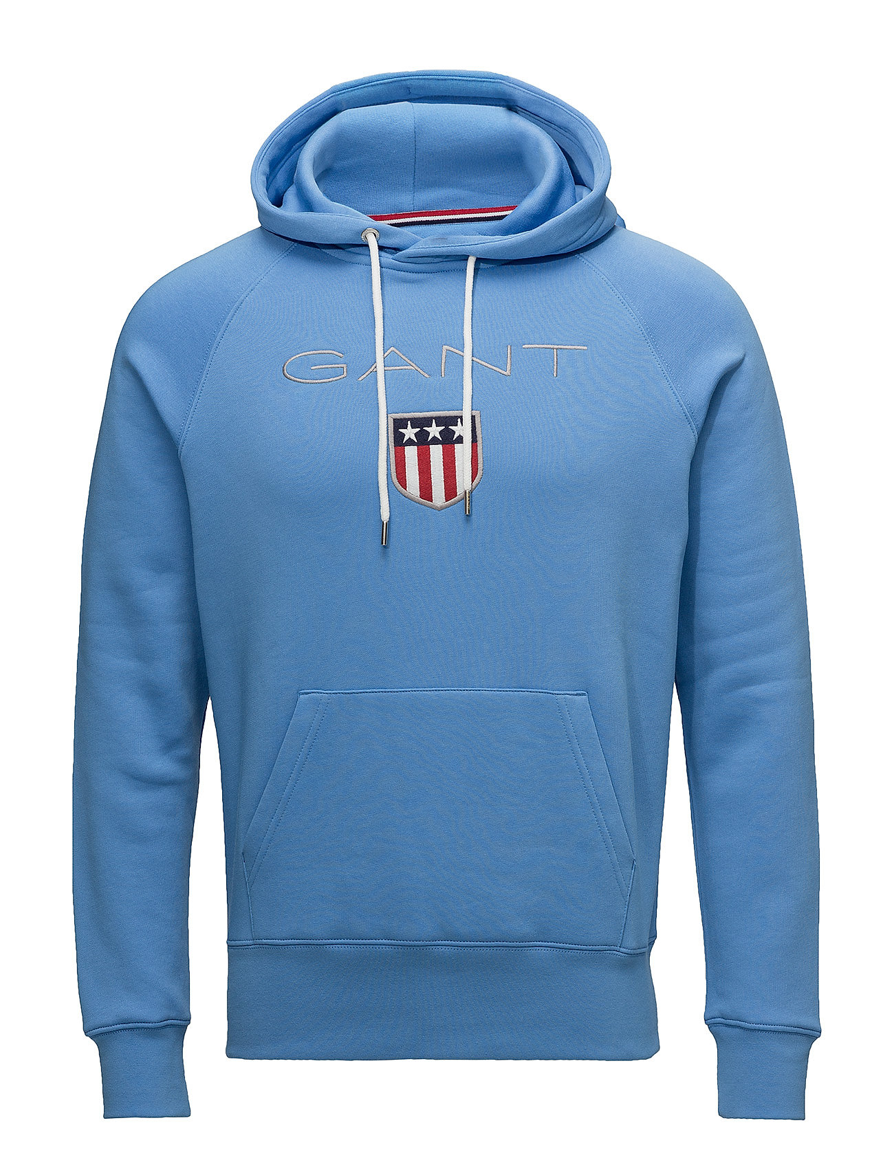 gant shield sweat hoodie pacific blue gant. Black Bedroom Furniture Sets. Home Design Ideas