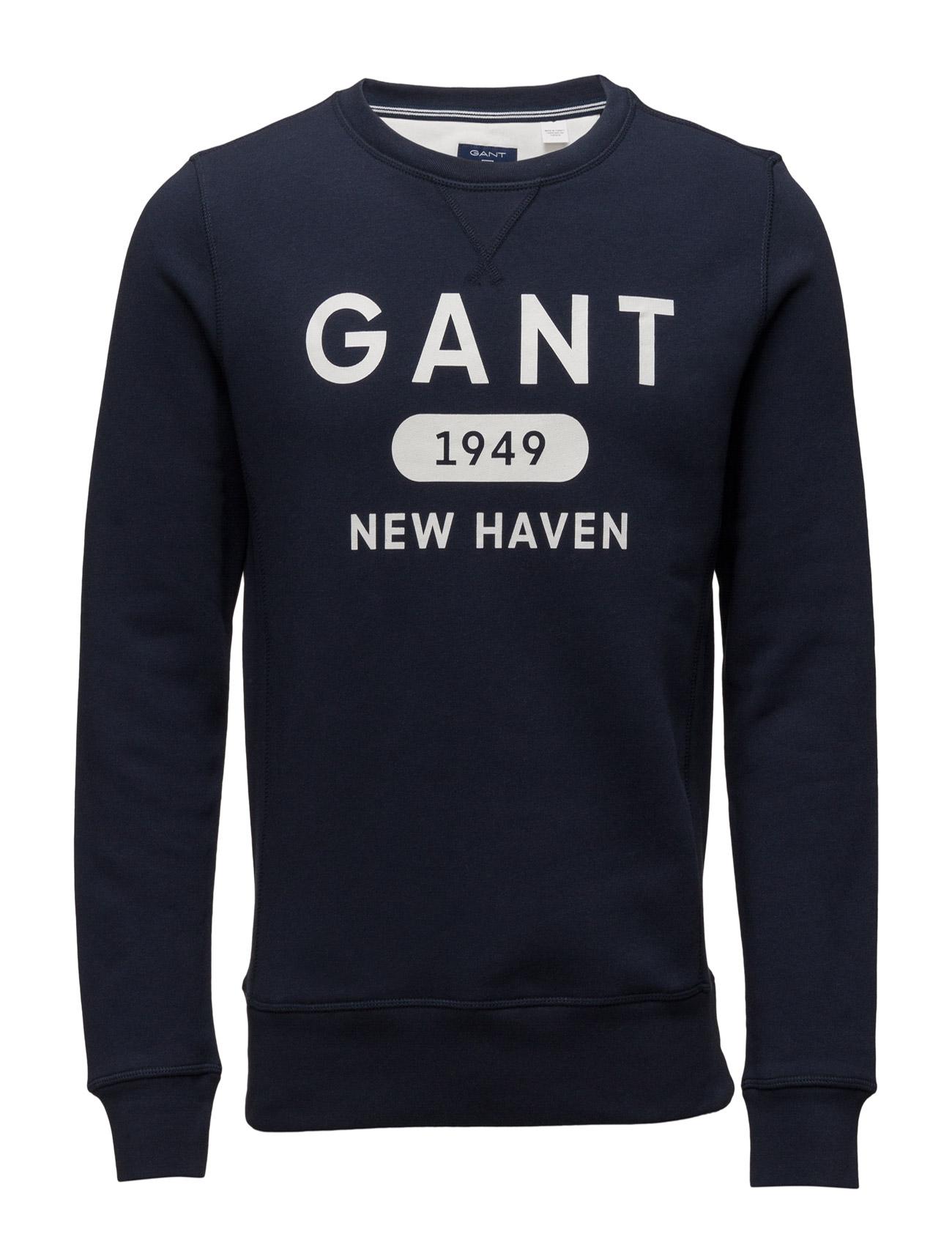 Gant Athletics C-Neck Sweat GANT Striktrøjer til Mænd i Thunder Blå