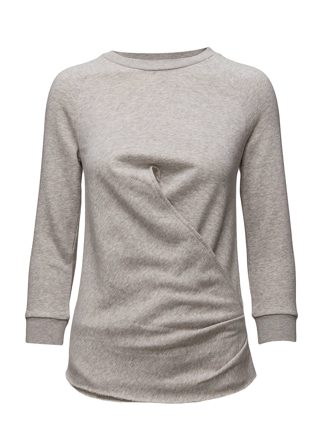 R1. The Wrap Sweat GANT  til Kvinder i Light Grey Melange