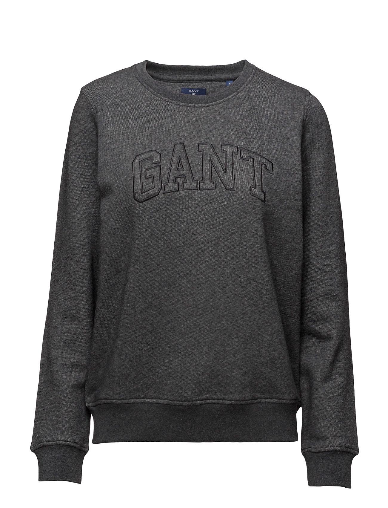 Gant C-Neck Sweat GANT  til Damer i Antracit Melange