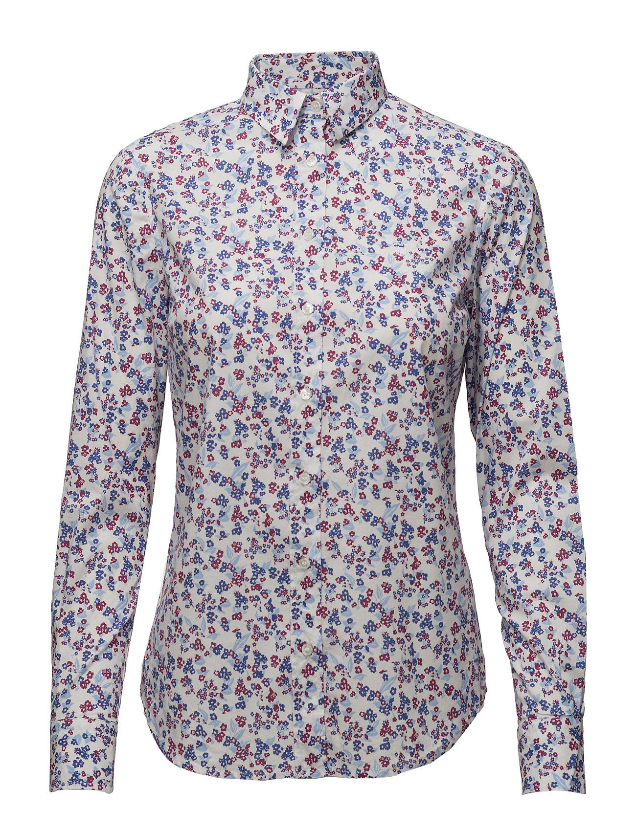 Stretch Broadcloth Mini Floral Shir GANT Langærmede til Damer i hvid