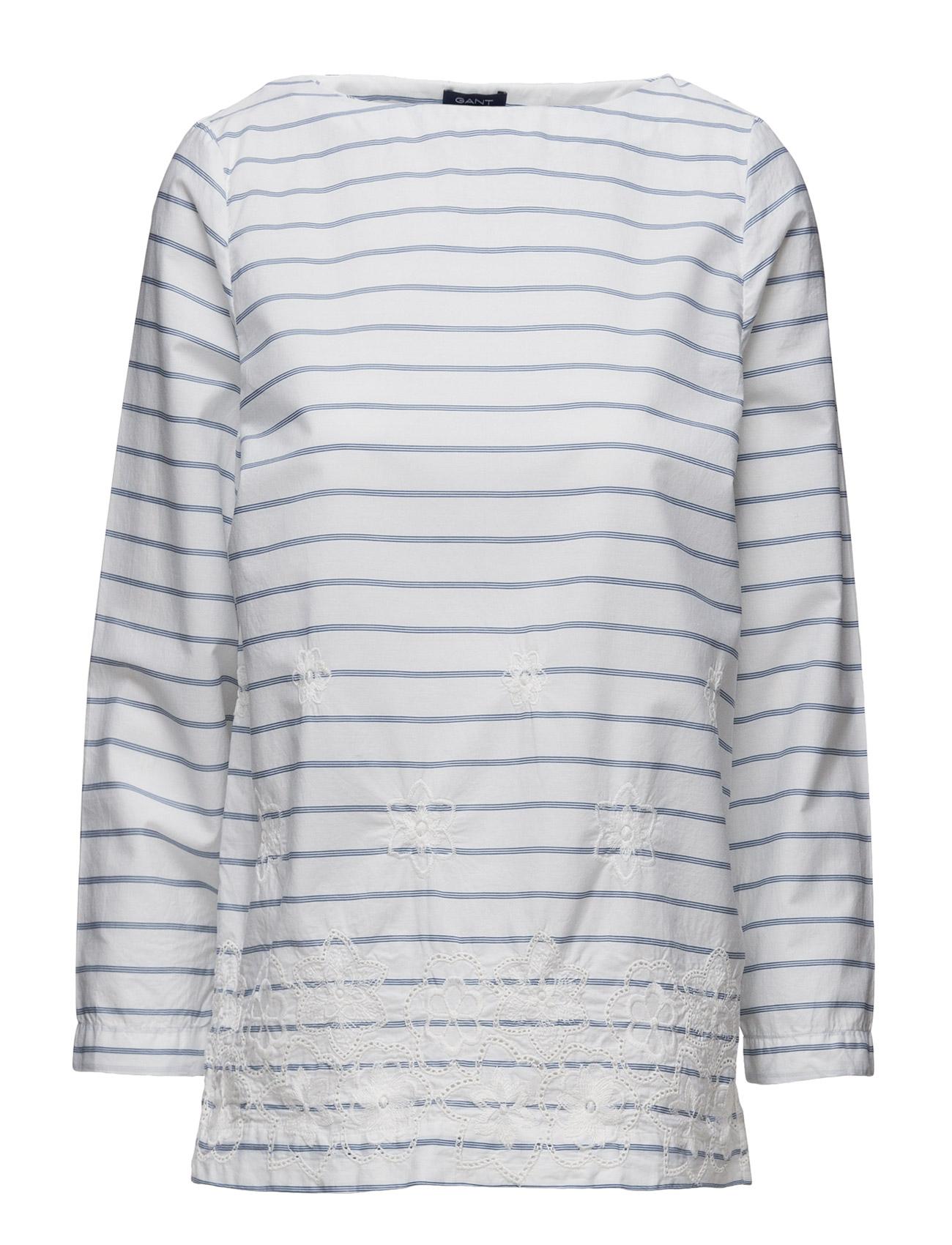 Yc. Embroidered Stripe Top GANT Barne til  - MoteJakten