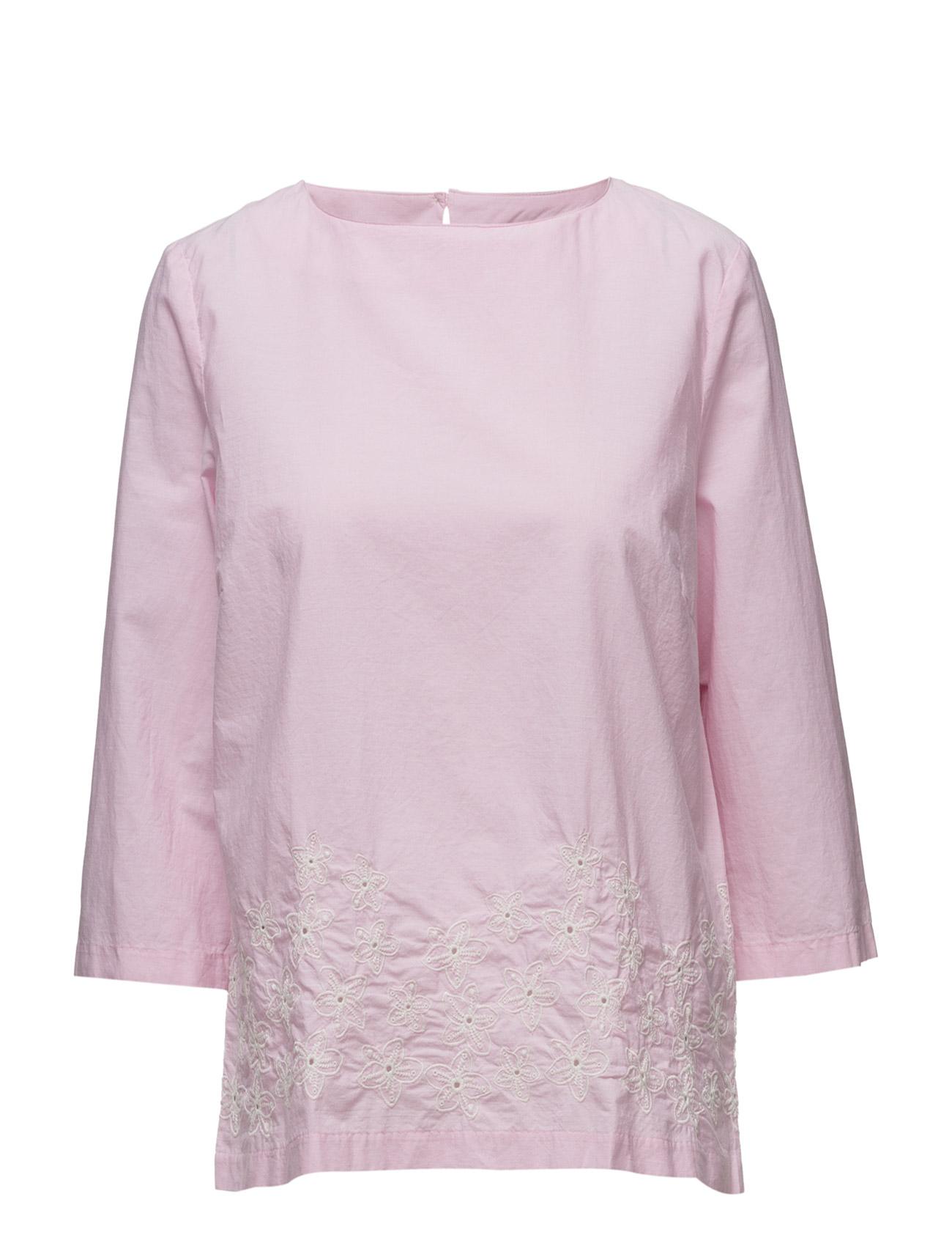 O2. Chambray Top GANT Bluser til Kvinder i Bright Pink