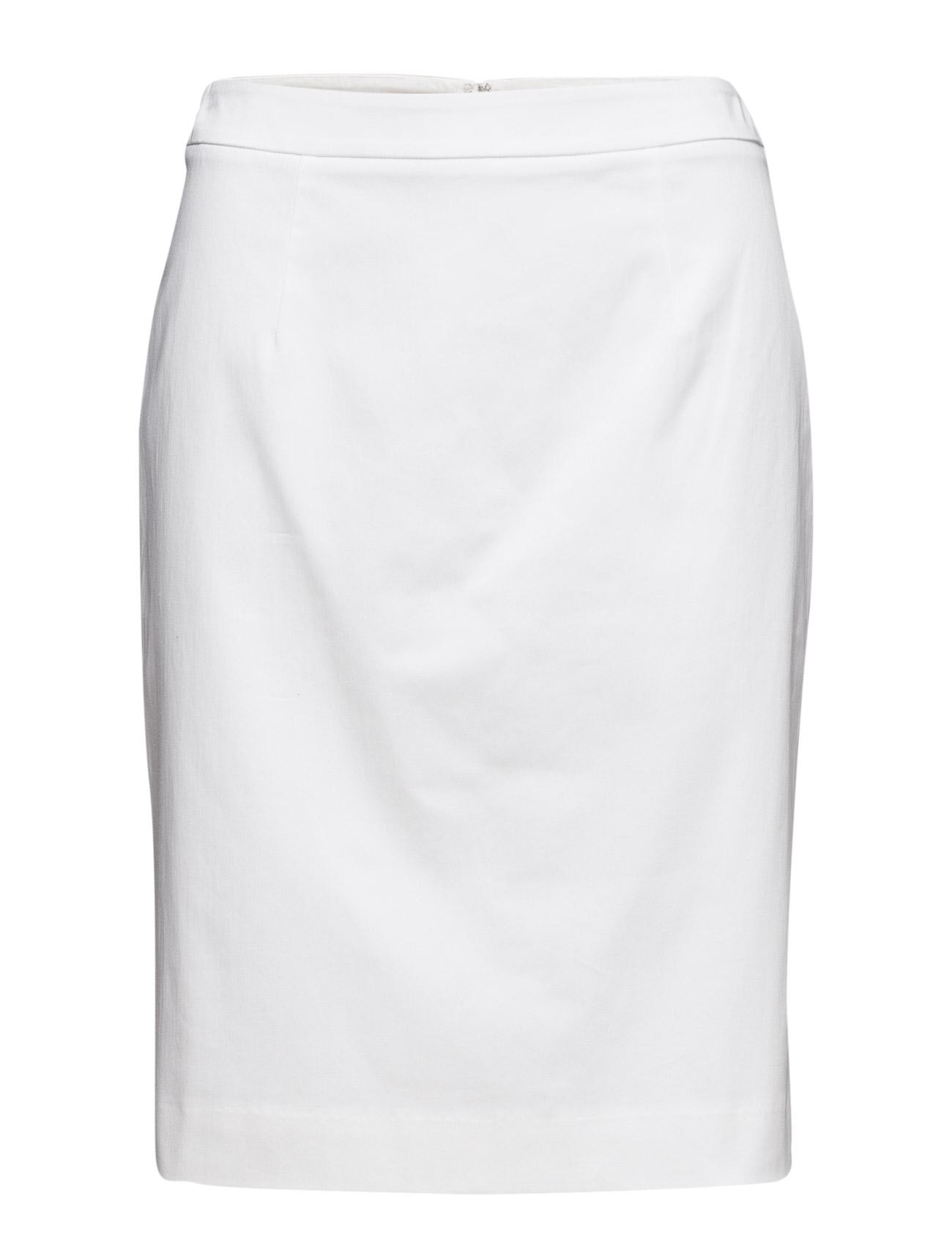 O1. Satin Stretch Skirt GANT Knælange & mellemlange til Damer i hvid