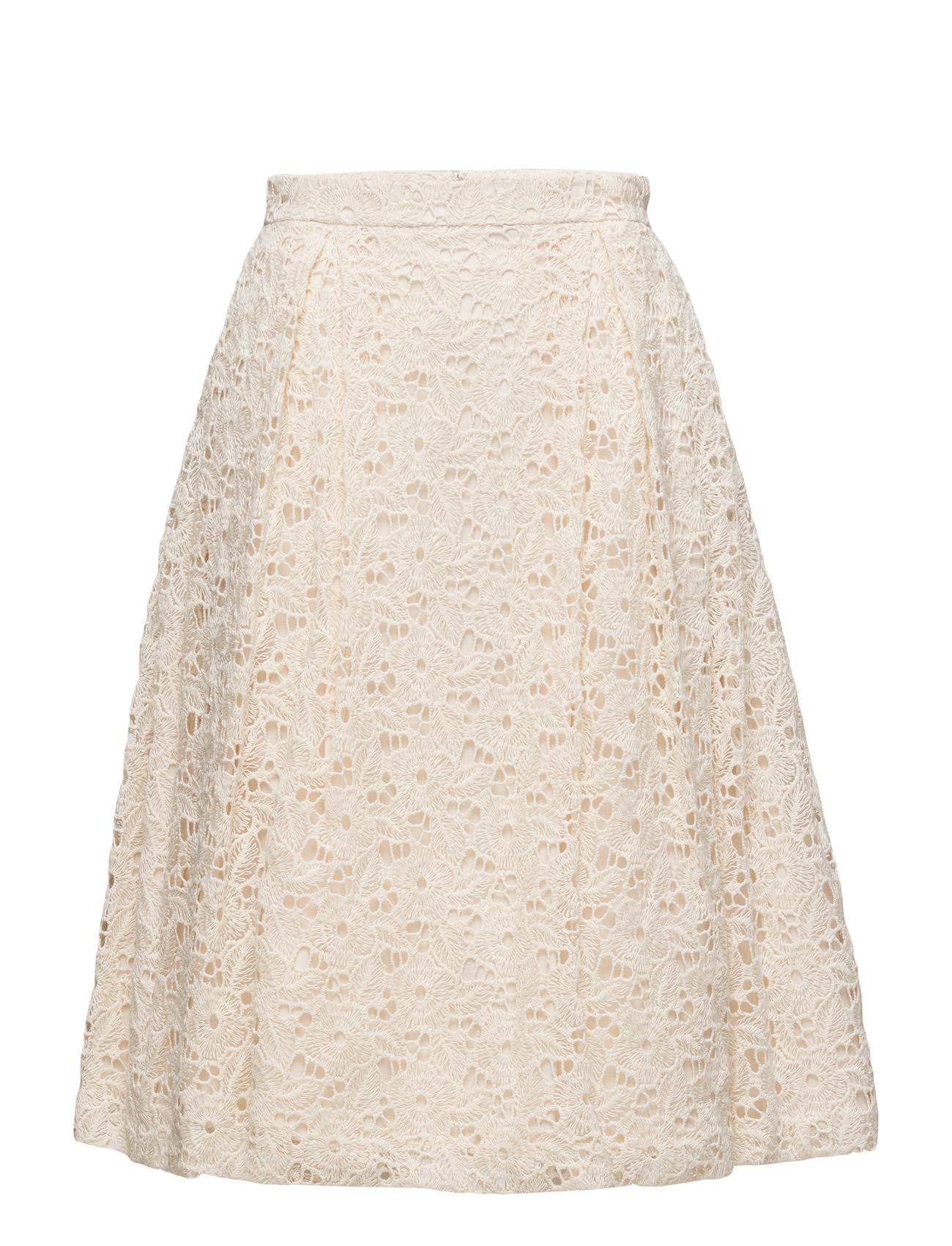 E. The Macrame Lace Skirt GANT Knælange & mellemlange til Damer i Fløde