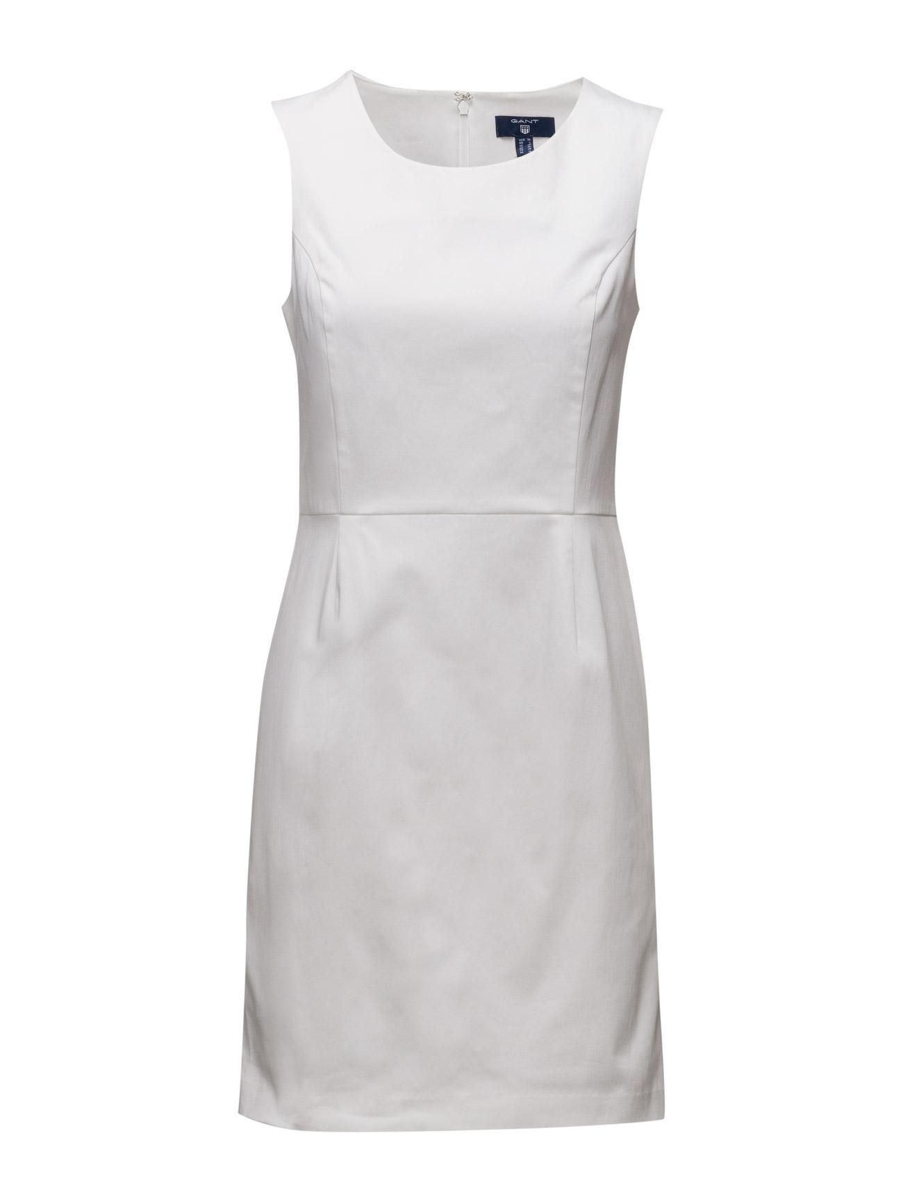 O1. Sleeveless Satin Stretch Dress GANT Korte kjoler til Kvinder i Marine blå