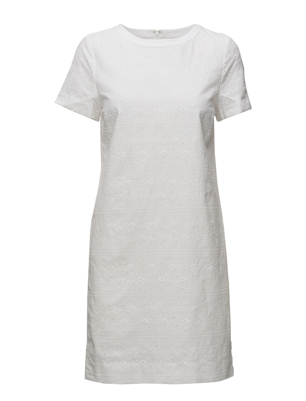 O2. Broiderie Anglaise Dress GANT Korte kjoler til Damer i hvid