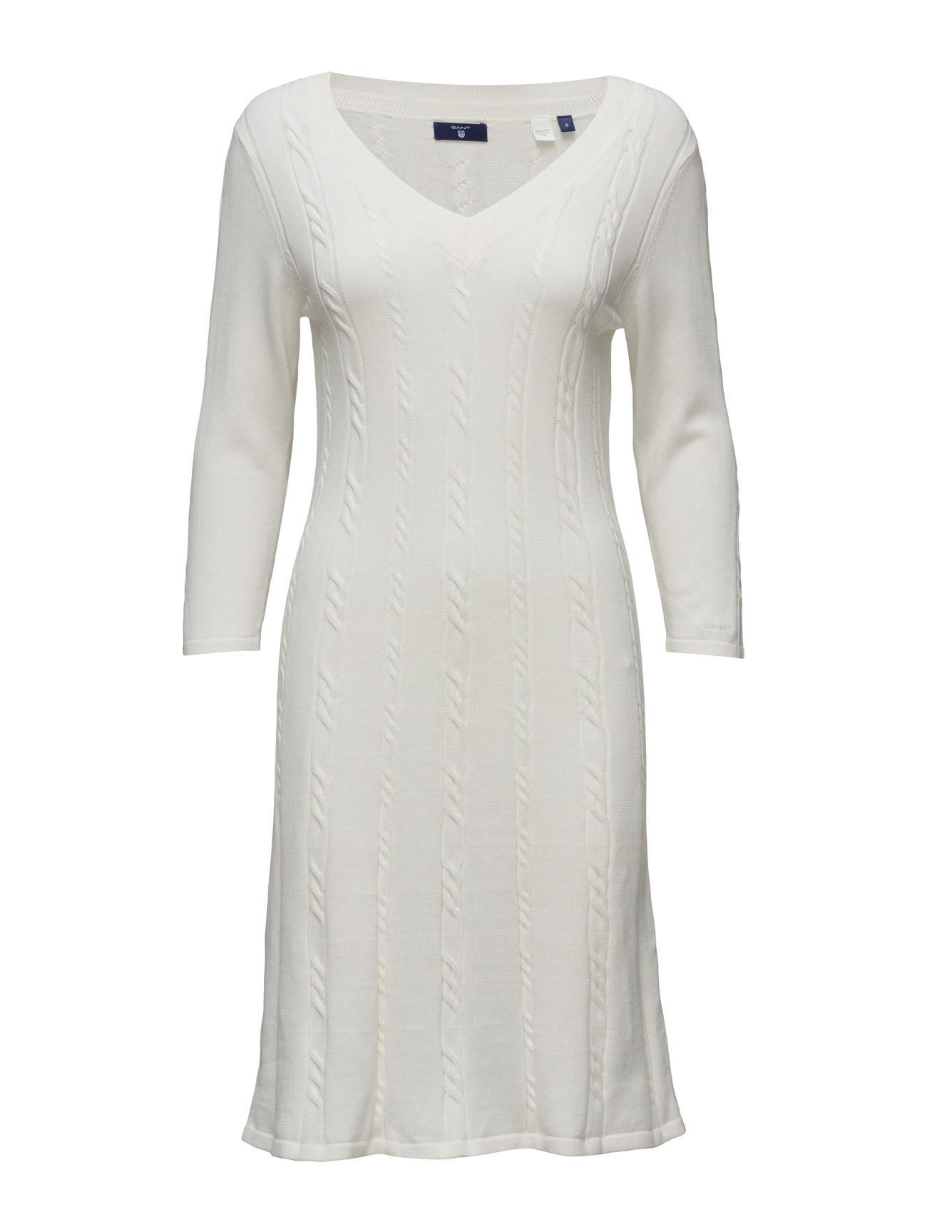 GANT O1. FLARED COTTON CABLE DRESS