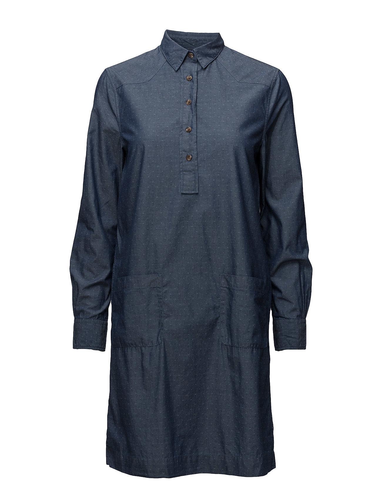 gant – O1. tp dobby chambray shirt dress på boozt.com dk